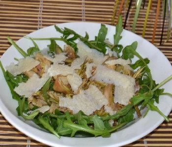 insalata di carciofi crudi e grana