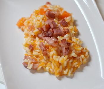 risotto alla zucca e pancetta