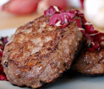 hamburger radicchio e mozzarella bimby