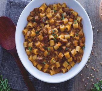 pasta e lenticchie alla contadina