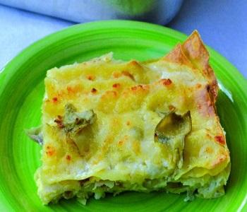 lasagne ai carciofi con bacon e scamorza bimby