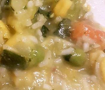 minestra di platessa con verdure bimby