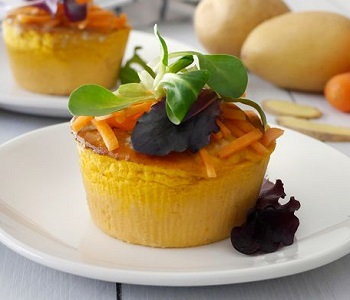 tortino di patate carote e zenzero bimby