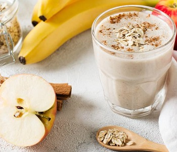 frullato banana mela e cacao bimby