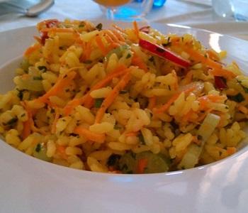 insalata di riso con verdure alla senape