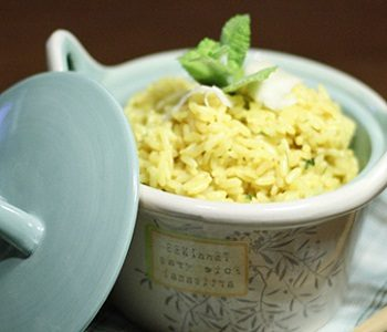 RISOTTO CURRY E MENTA