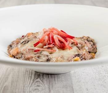 lasagnette gratinate allo speck e radicchio