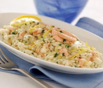 risotto salmone e pistacchio