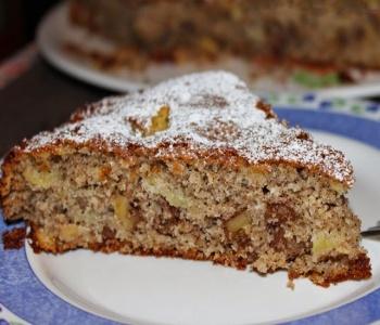 torta di grano saraceno mele e noci (valtellina)