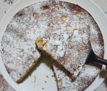 torta di mele e banane