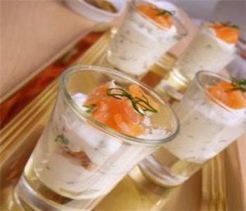 bicchierini di salmone