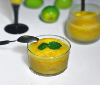 sorbetto al mango lime e menta