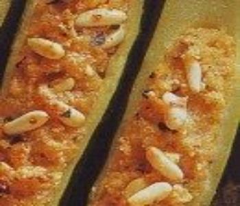 zucchine farcite pecorino e pinoli