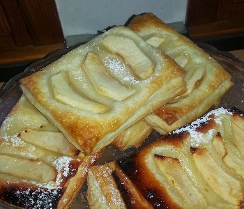 sfoglie di mela con crema