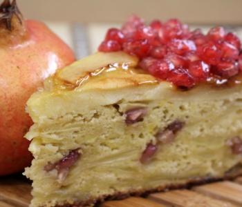torta di mele e melograno