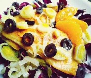 filetto di branzino all'arancia