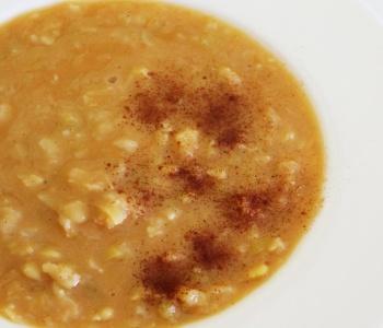 minestra piccante fave porro cannella