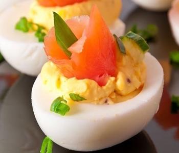 uova ripiene al salmone bimby