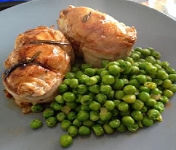 mini arrostini di pollo al prosciutto