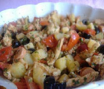 insalata di pollo appetitosa